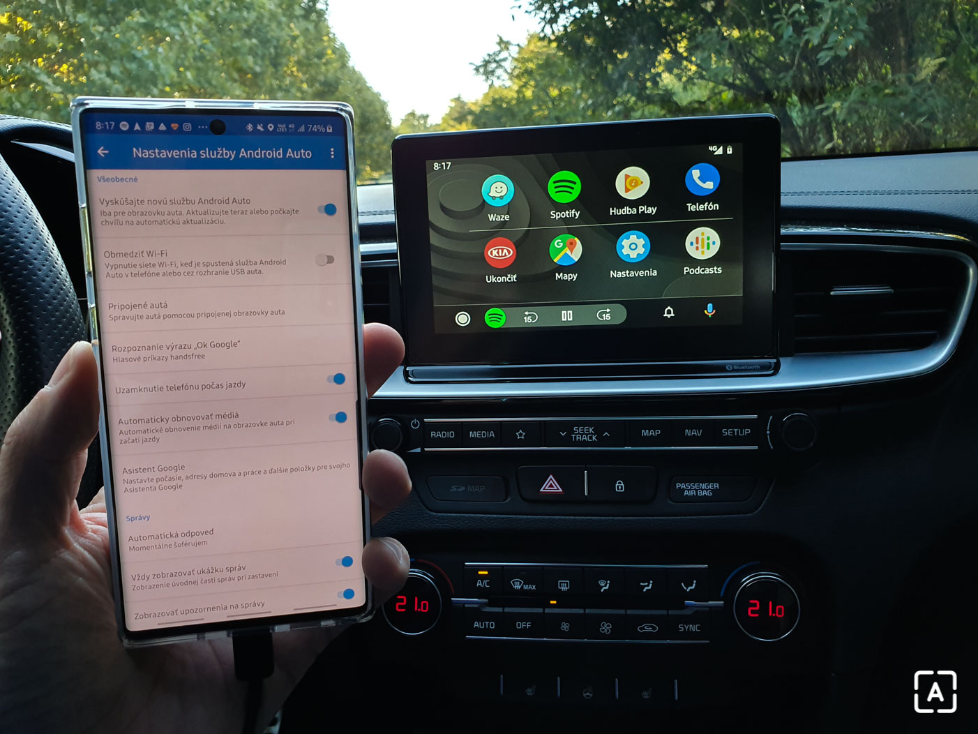 Kia ProCeed Android Auto test (7)