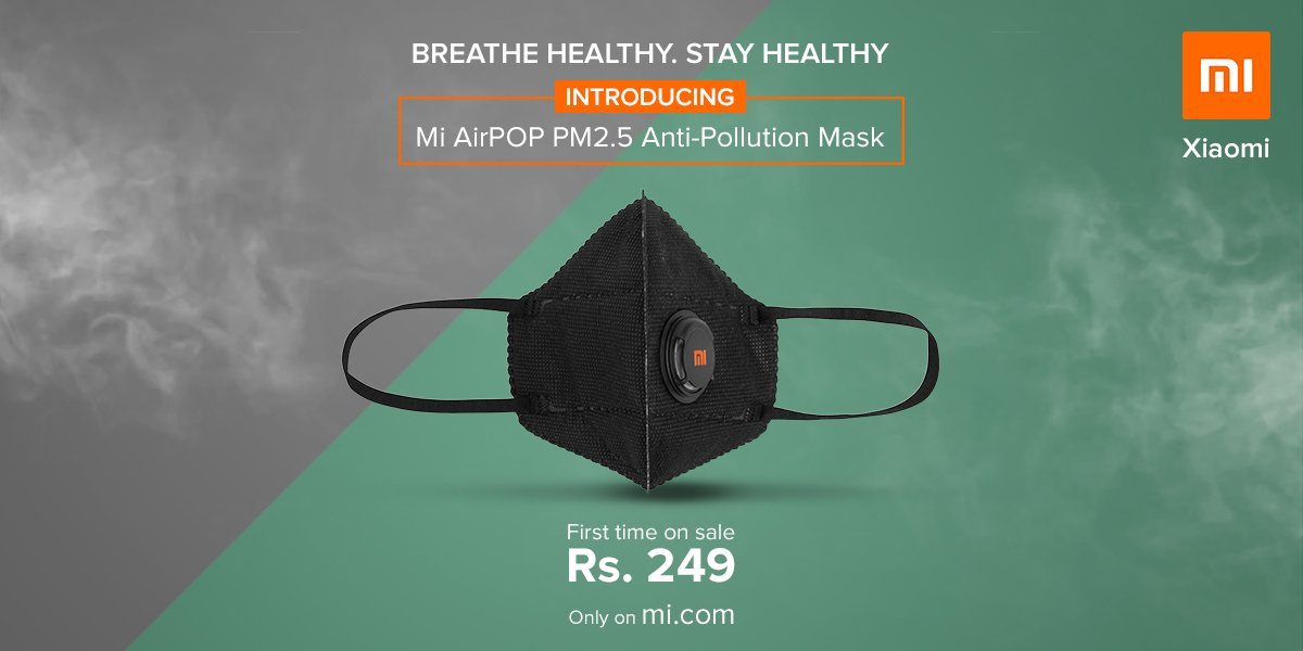 Xiaomi Mi AirPOP PM2.5 maska