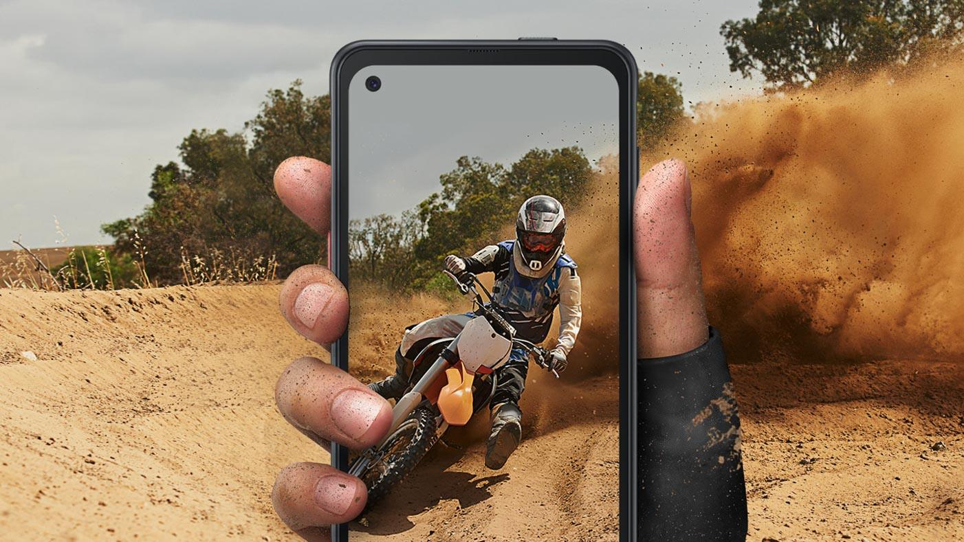 Samsung Galaxy Xcover Pro displej