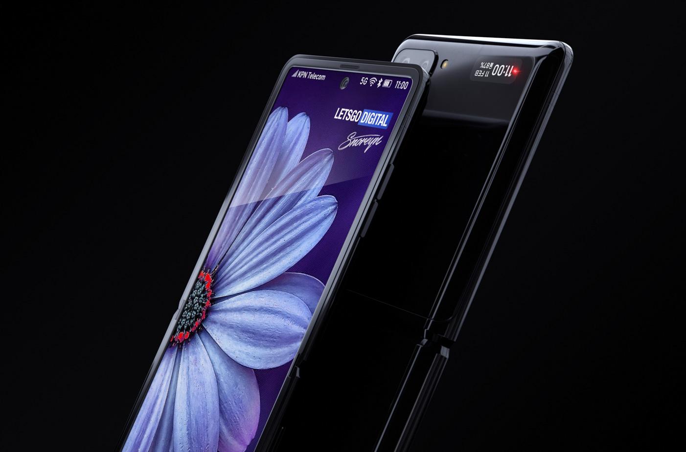 Samsung Galaxy Z Flip otvoreny displej