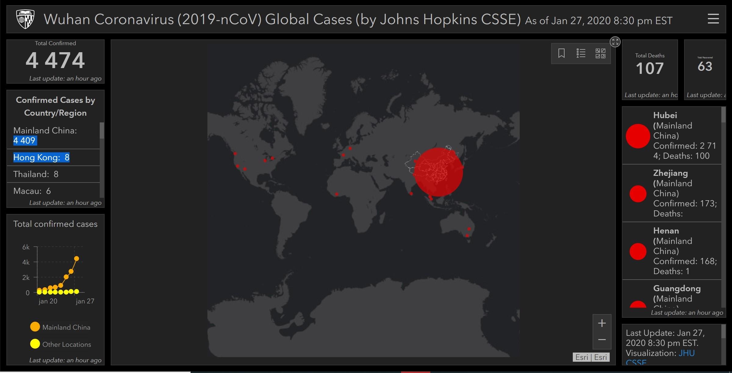 interaktívna mapa koronavírusu