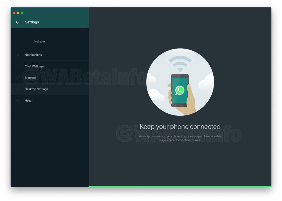 WhatsApp desktop tmavý režim 2