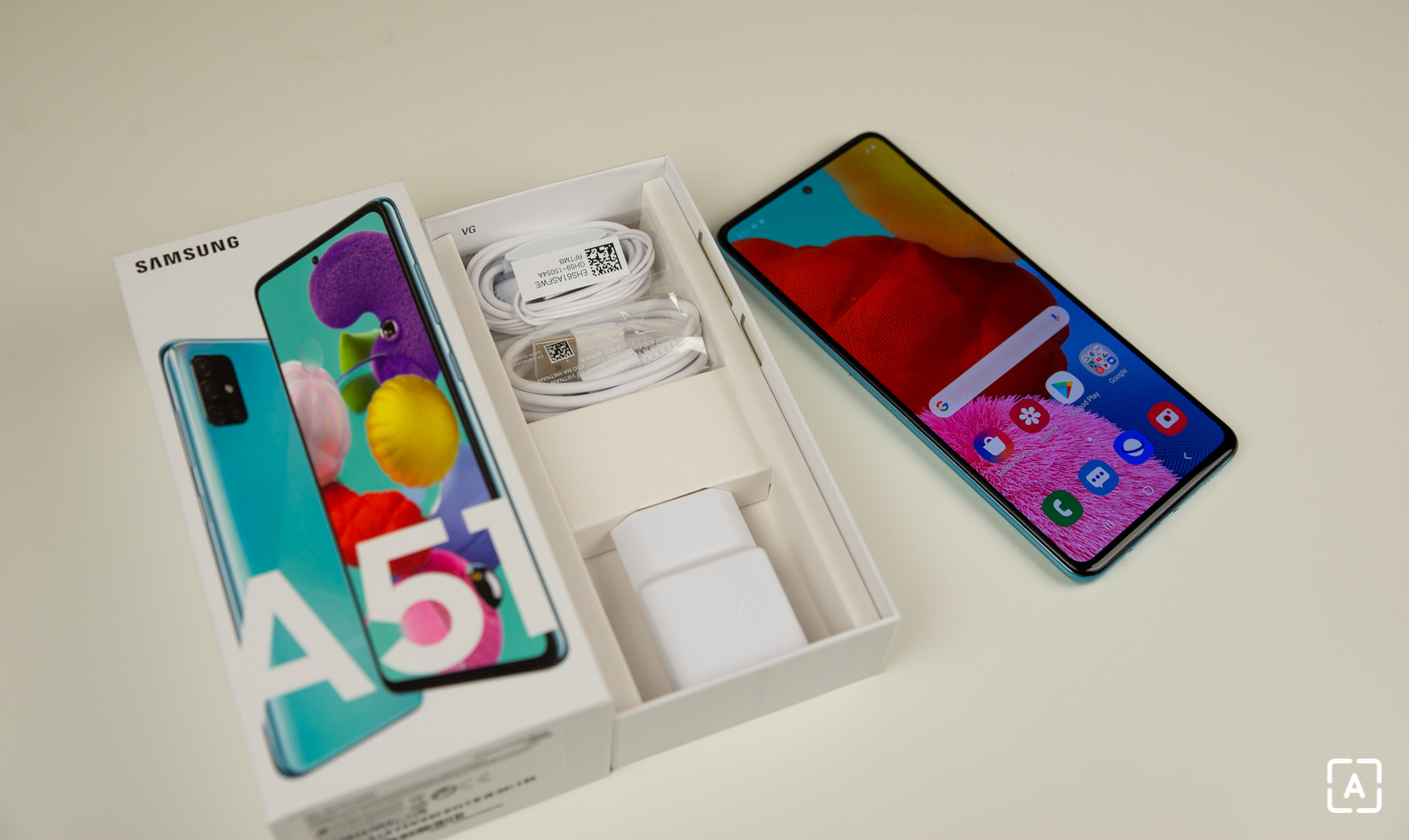 Samsung Galaxy A51 balenie nabijacka