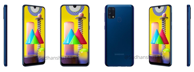 Samsung Galaxy M31 modrá