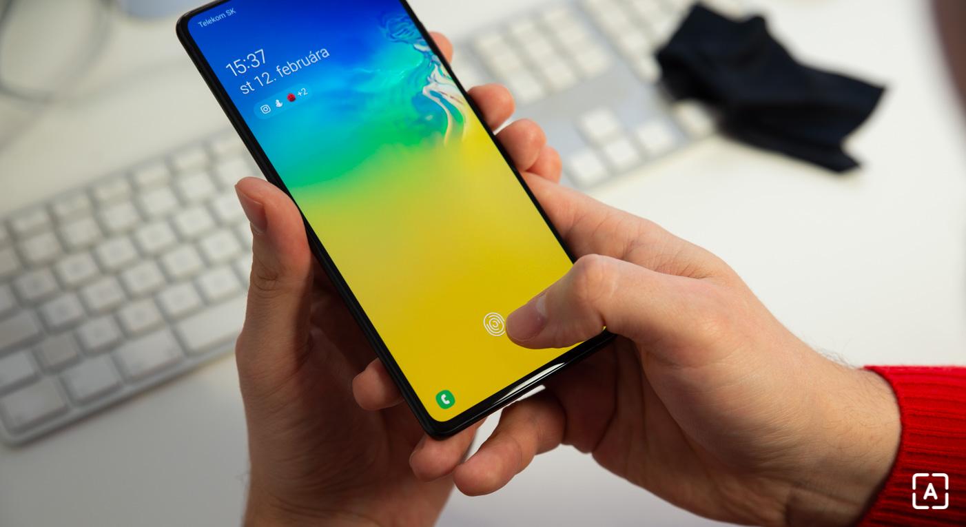 Samsung Galaxy S10 Lite odomykanie skener odtlackov