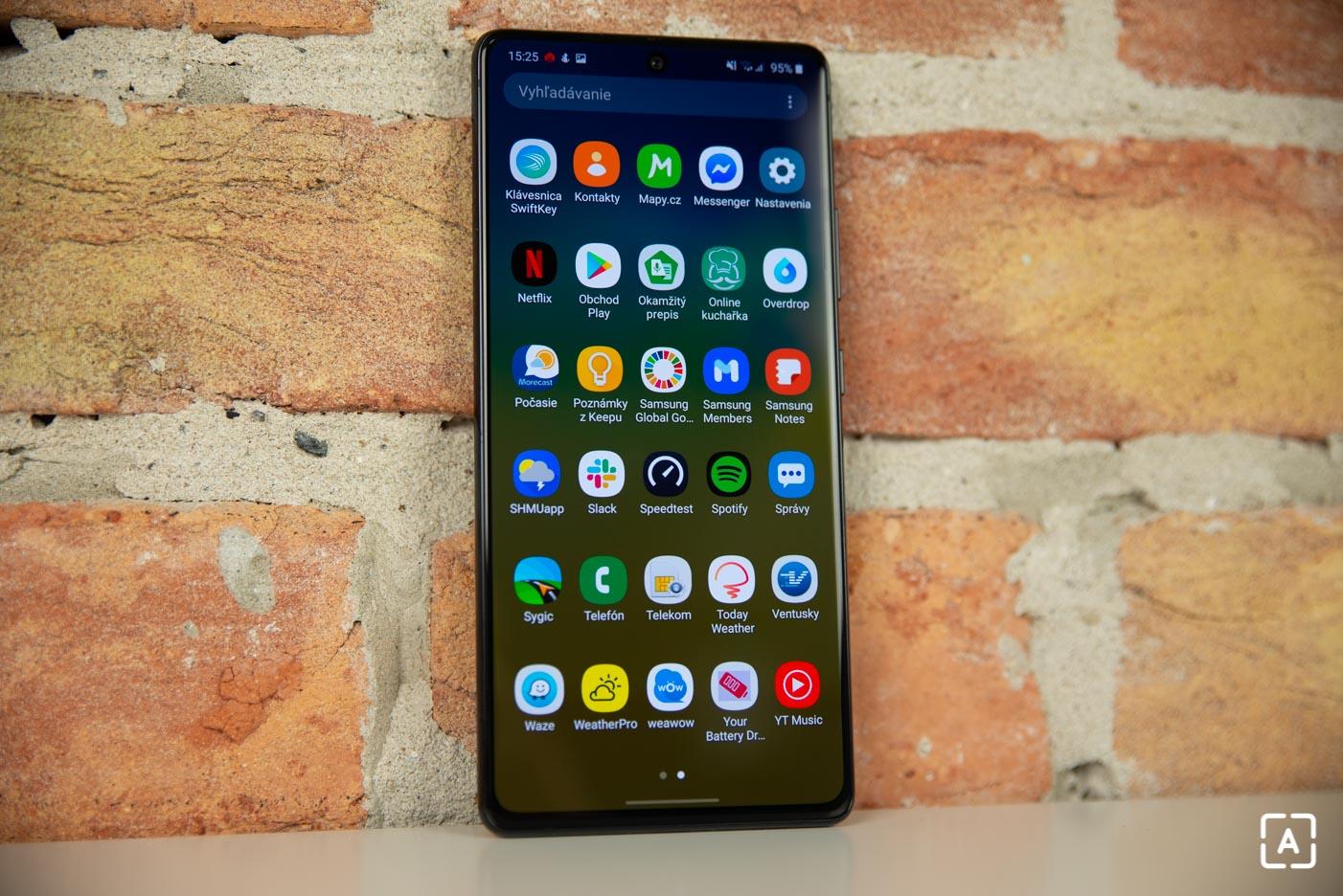Samsung Galaxy S10 Lit menu