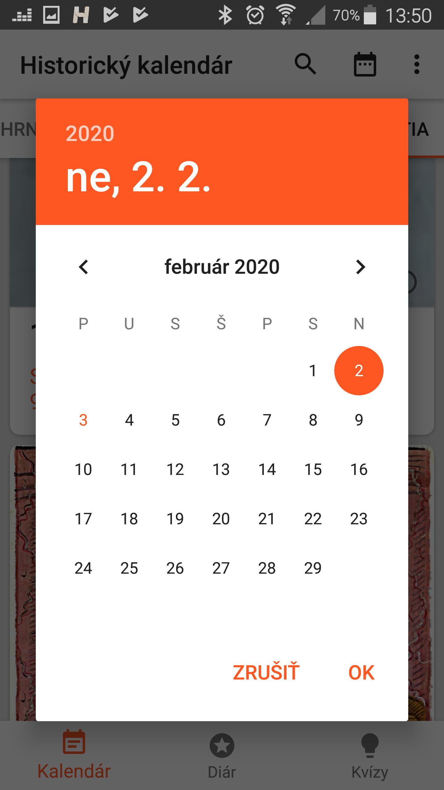 Historický kalendár 2