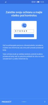 Prostredie Google Authenticatora