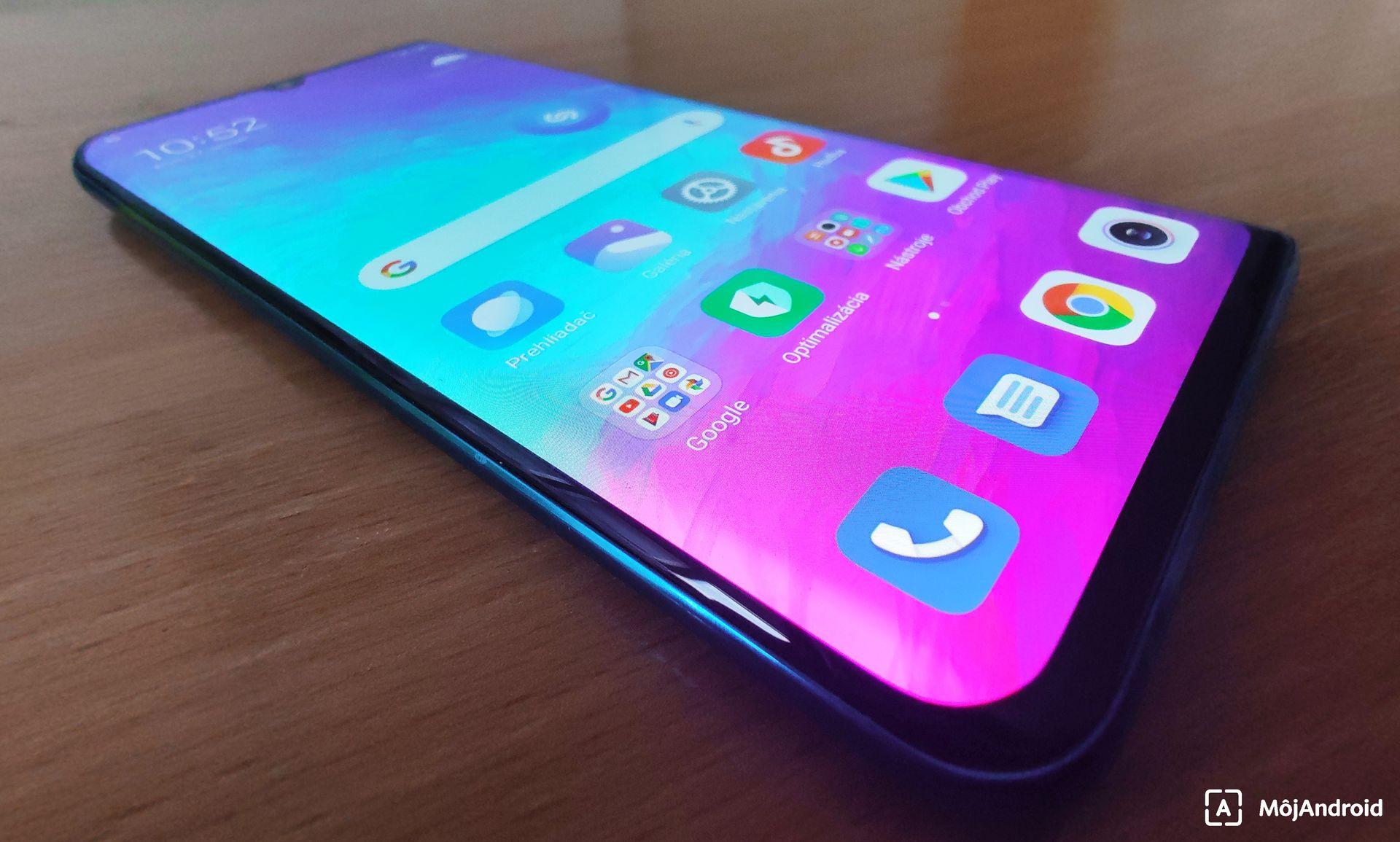 Xiaomi Mi Note 10 zobrazovač