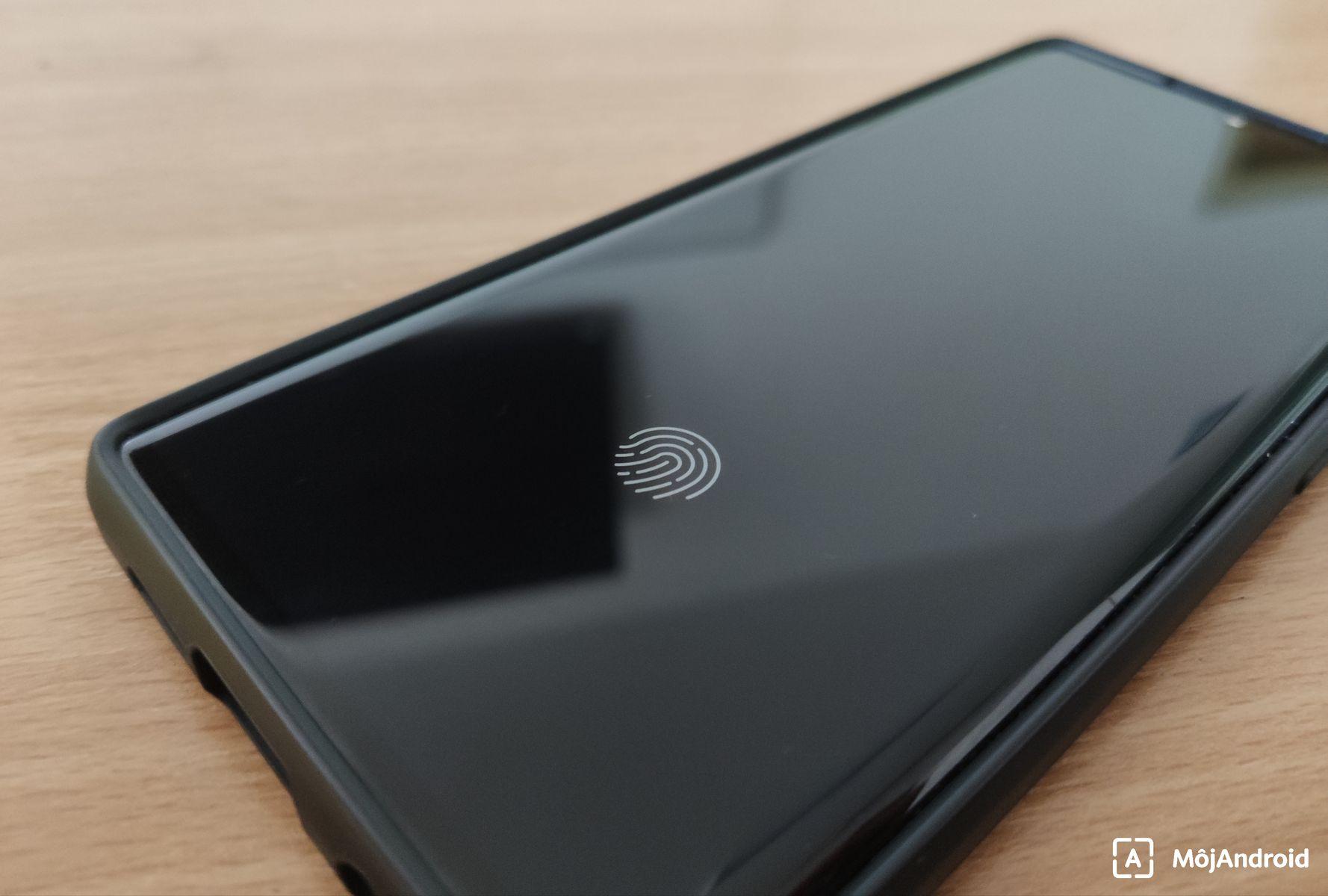 Xiaomi Mi Note 10 skener pod displejom