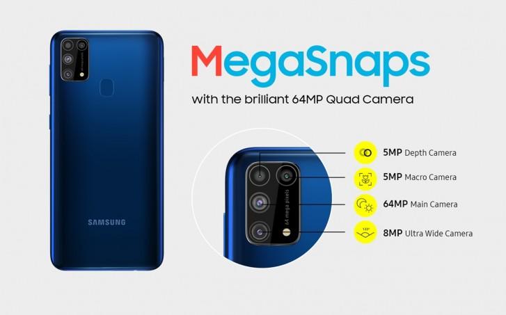 Samsung Galaxy M31 fotoaparát
