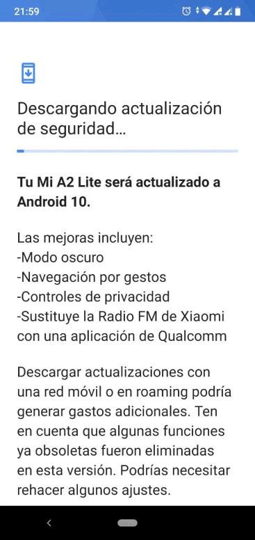 Xiaomi Mi A2 Lite Android 10 1