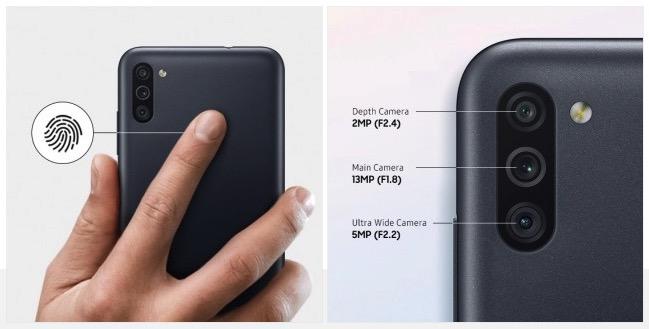 Samsung Galaxy M11 skener odtlackov