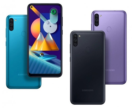 Samsung Galaxy M11 displej