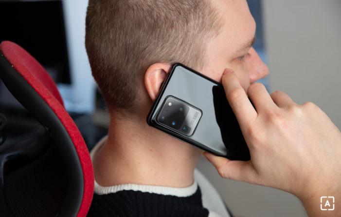 Samsung Galaxy S20 Ultra telefonovanie
