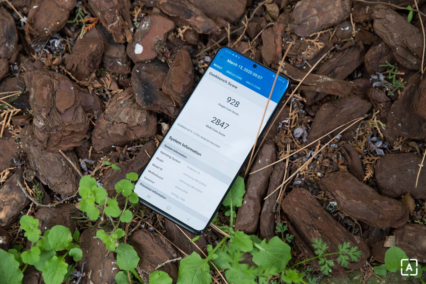Samsung Galaxy S20+ geekbench