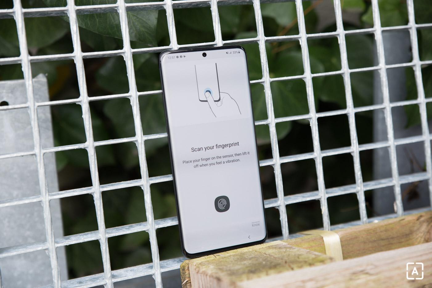 Samsung Galaxy S20+ skener odtlackov prstov