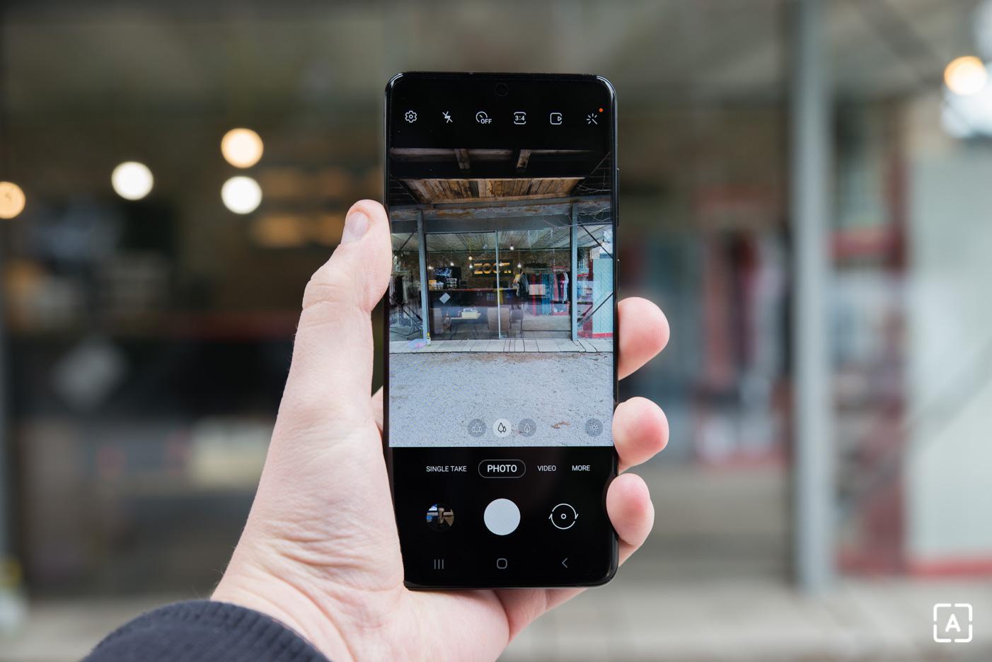 Samsung Galaxy S20+ fotoaparat fotenie