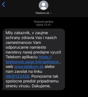 Telekom sms koronavirus