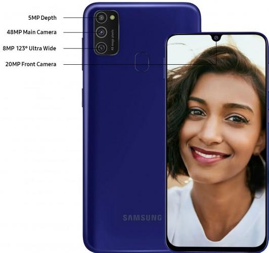 Samsung Galaxy M21 fotoaparát
