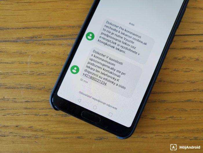 koronavírus SMS správa ministerstvo zdravotníctva