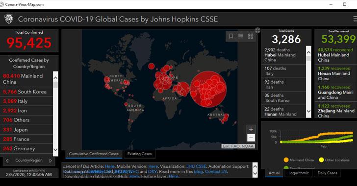 koronavirus malver mapa
