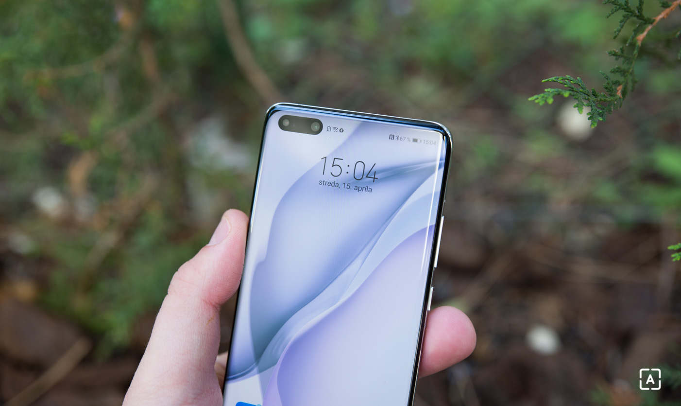 Huawei P40 Pro selfie fotoaparat vyrez