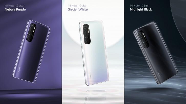Xiaomi Mi Note 10 Lite farby