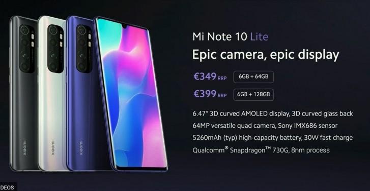 Xiaomi Mi Note 10 Lite cena