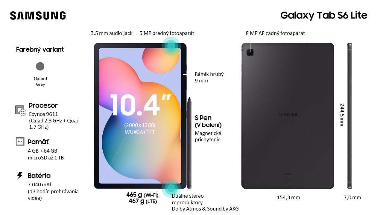 Slovenská verzia Samsung Galaxy Tab S6 Lite