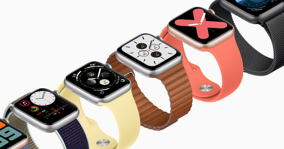 Apple Watch 5 farby