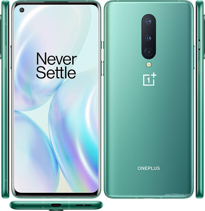 OnePlus 8 zelený