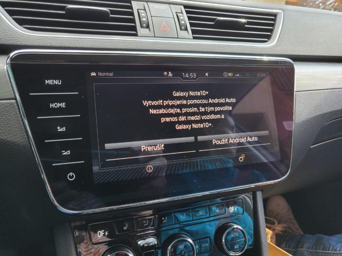 android auto skoda superb iv