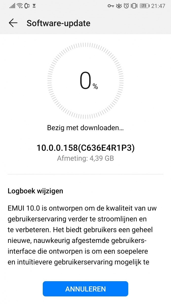 Huawei Mate 10 Android 10 EMUI 10