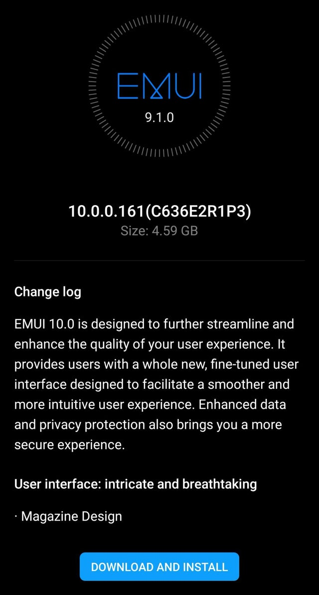 Huawei P20 Pro Android 10 EMUI 10