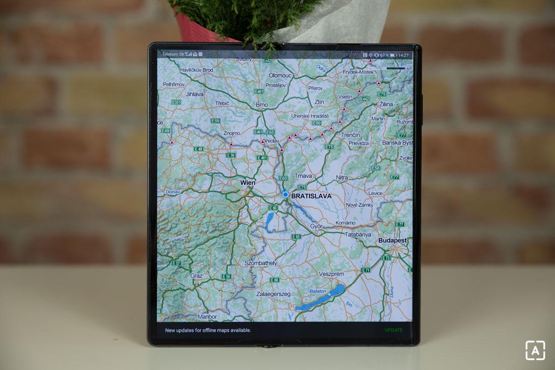 Huawei Mate Xs mapy