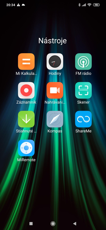 Redmi Note 8T MI aplikácie