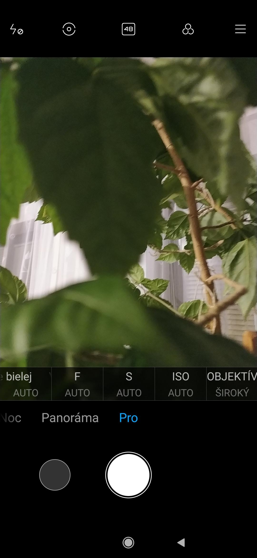 Redmi Note 8T aplikácia fotoaparátu pro režim