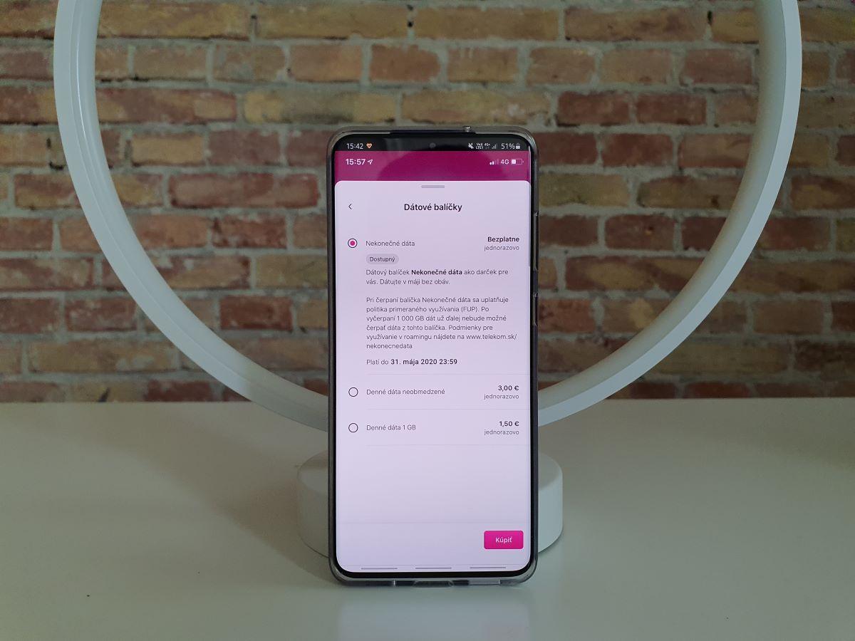Telekom nekonecne data aplikacia