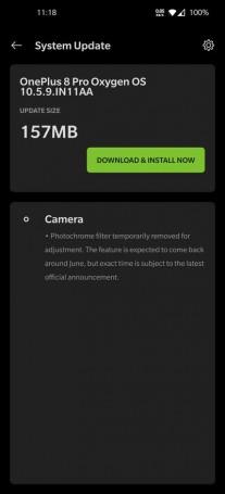 OnePlus 8 Pro aktualizácia medzinárodná