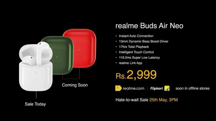 Realme Buds Air Neo špecifikácie