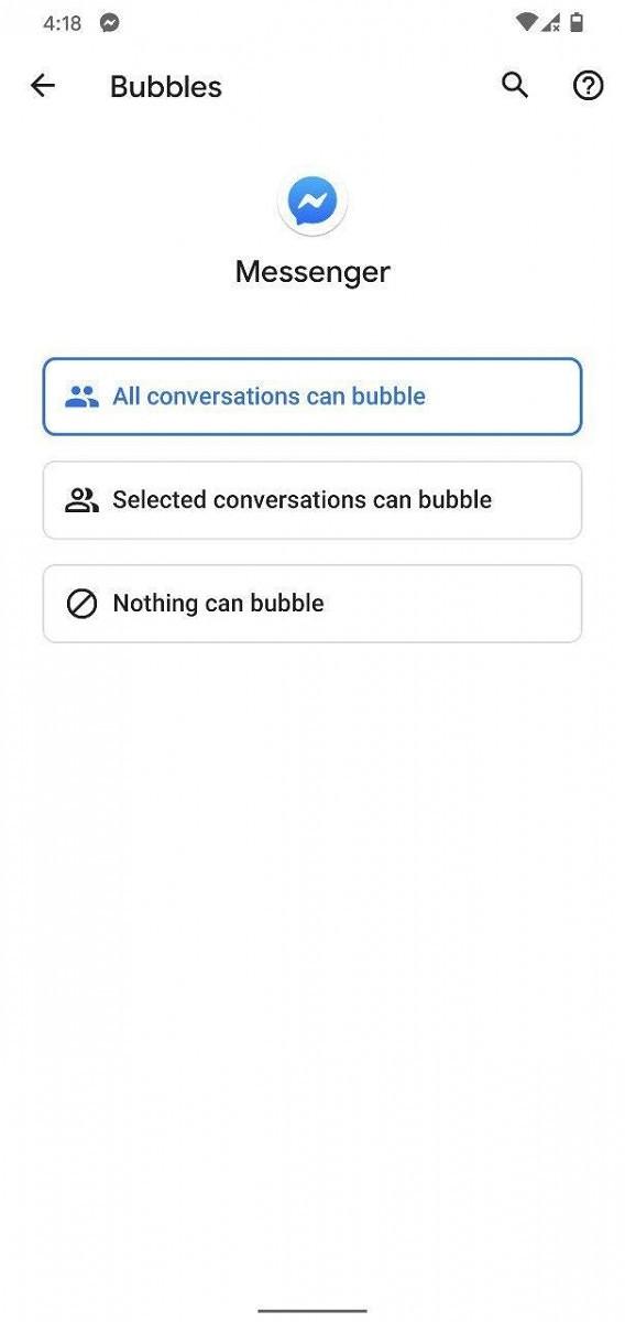 Facebook Messenger Bubbles API 2