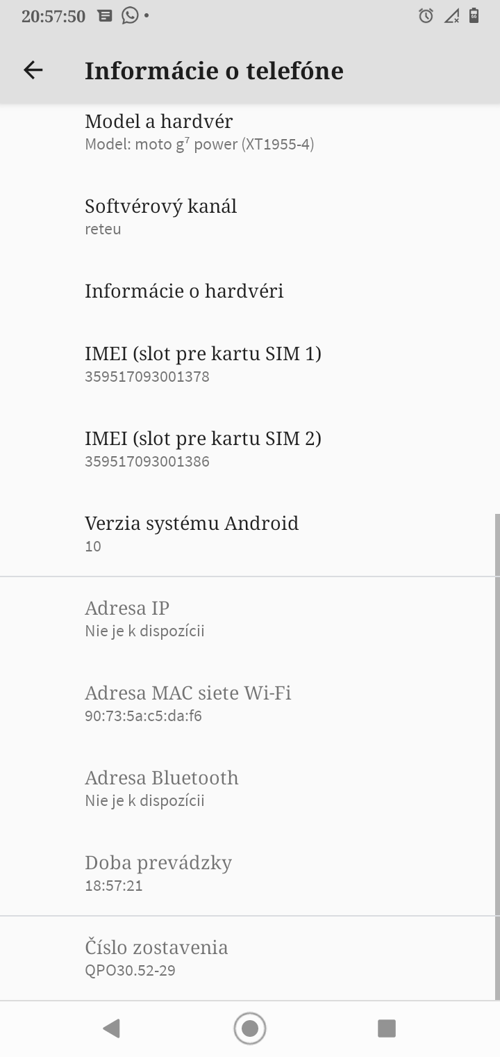 Motorola moto g7 power android 10