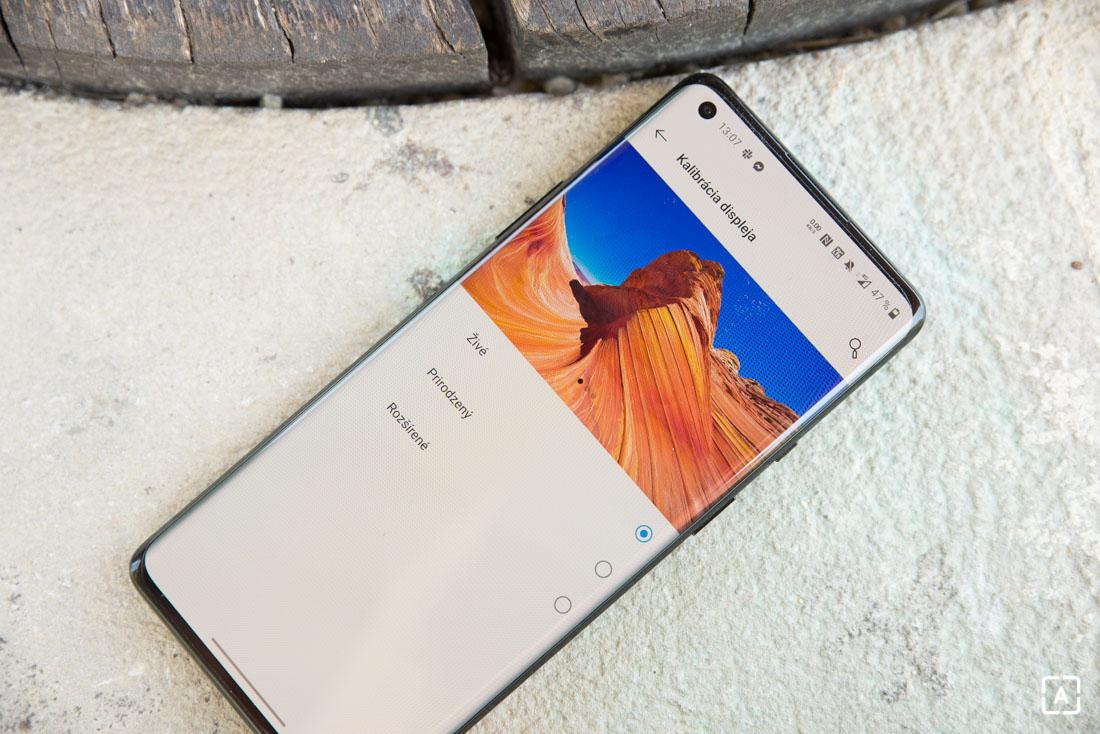 OnePlus 8 Pro nastavenia displeja
