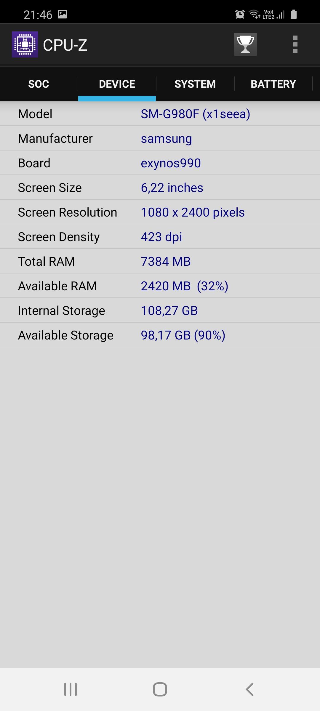 Samsung Galaxy S20 vykon a pamat (4)