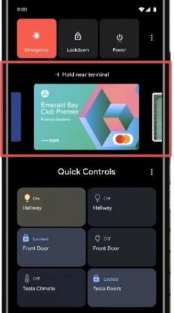 Android 11 power tlačidlo Google Pay