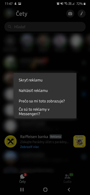messenger reklama android 2