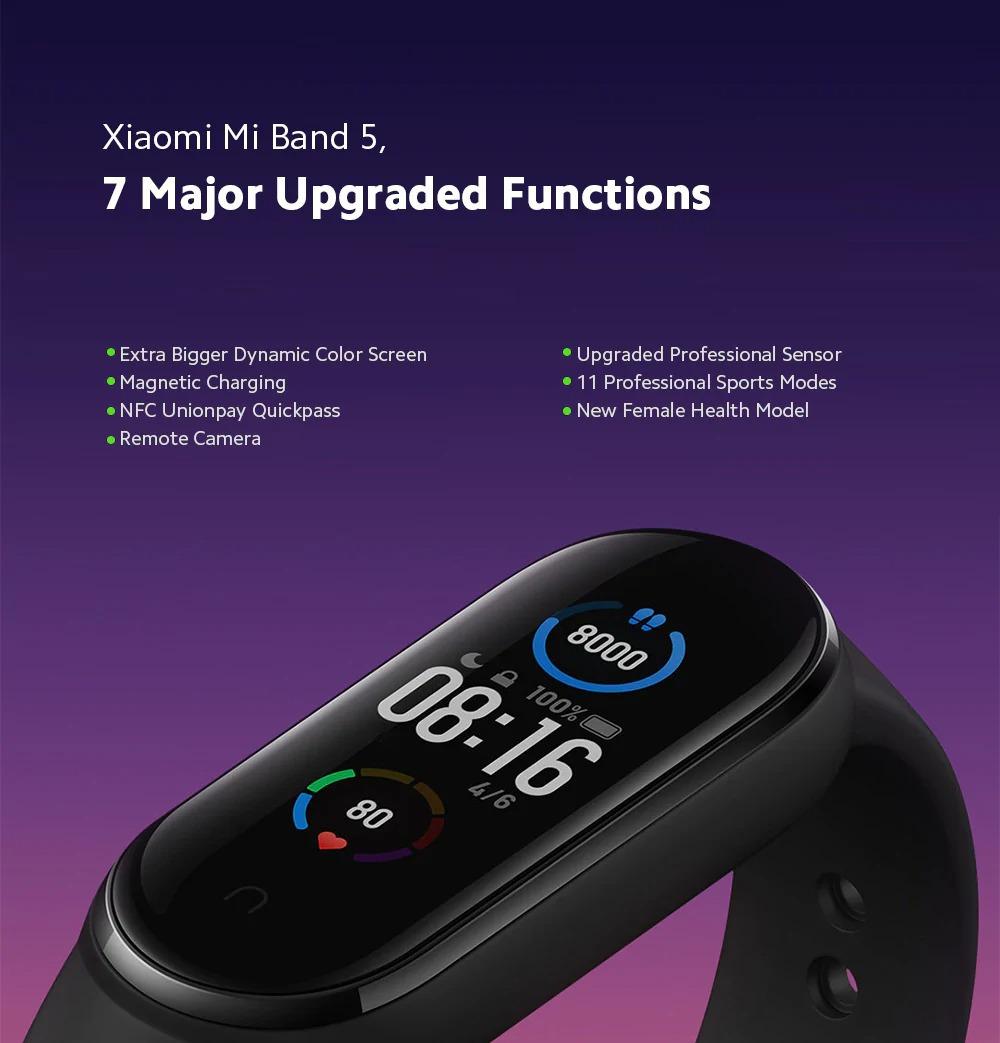 Xiaomi Mi Band 5 senzory