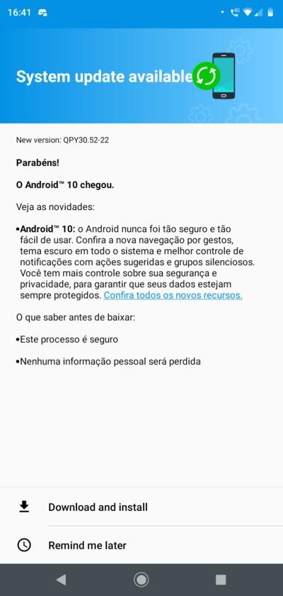 Motorola Moto G7 Play Android 10