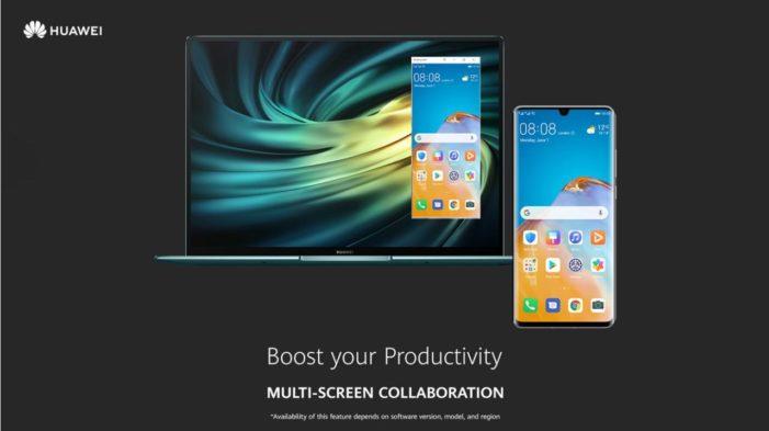 EMUI 10.1 multi screen colaboration